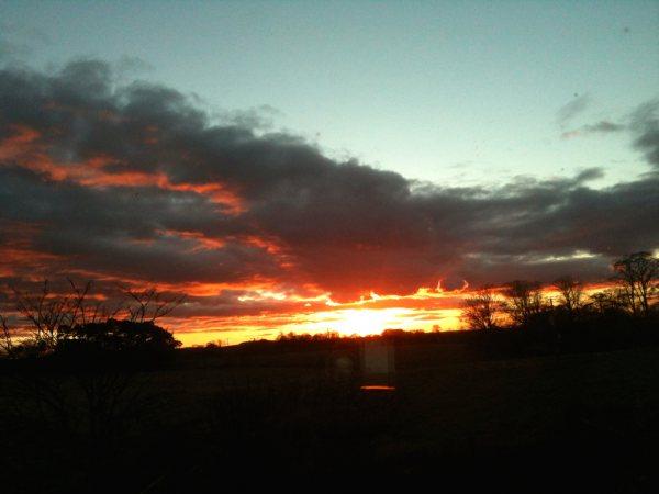 A sunset of goodbye