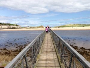 Reckety Bridge at Lossiemouth Beach