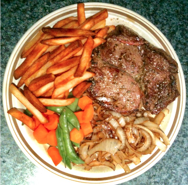 0 steak meal